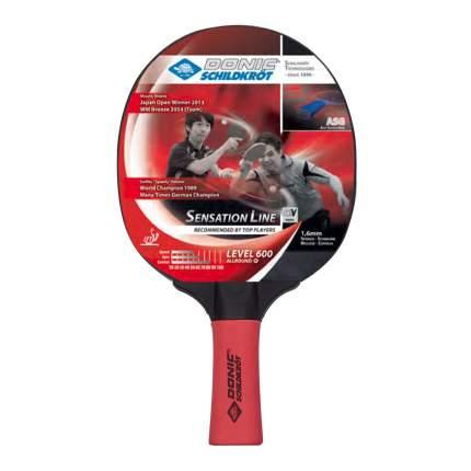 Ракетка для настольного тенниса Donic 724402 Sensation 600, черно-красная