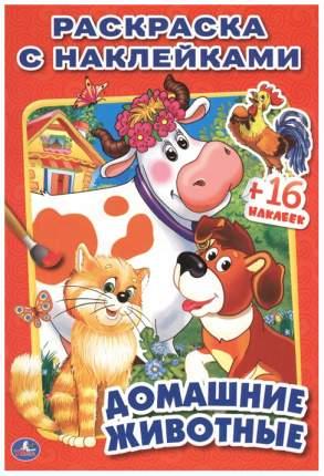 Раскраска с наклейками Умка «Домашние животные»
