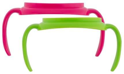Набор ручек для чашек DrBrowns TC070 розовый зеленый 2 шт