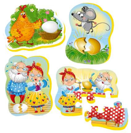 Пазл мягкий Vladi Toys Baby puzzle Сказки Курбочка Ряба