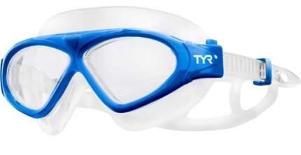 Очки-полумаска для плавания TYR Adult Magna Swimmask синие/прозрачные (420)