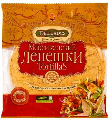 Лепешки Delicados tortillas мексиканские для сандвичей пшеничные томатные 6 штук
