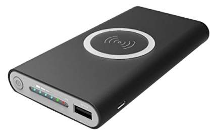 Внешний аккумулятор Qi PowerBank Wireless 10000 мА/ч Black