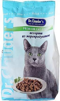 Сухой корм для кошек Dr.Clauder's Premium Cat Food, ассорти из морепродуктов, 0,4кг