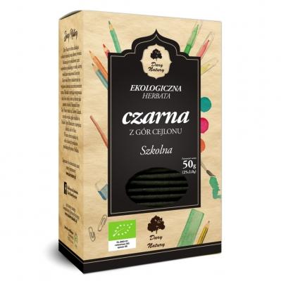 Чай черный Dary Natury цейлонский с школьный эко 25 пакетиков