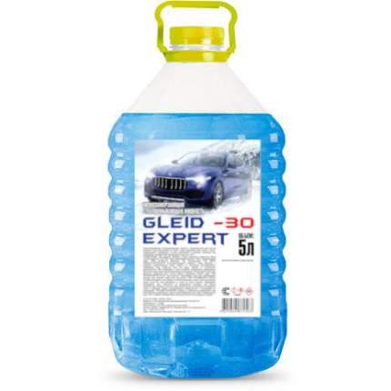 Жидкость стеклоомывателя зимняя Glade -30°C 5л gleidexpert30