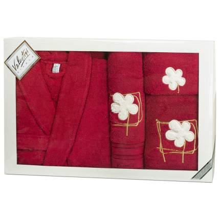 Набор халат+3 полотенца VALENTINI арт,Flower 2 1148/103 L