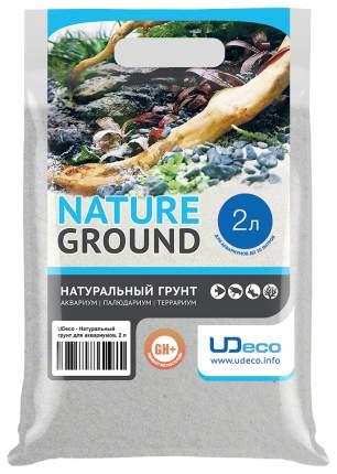 Мраморный песок для аквариумов и террариумов UDeco River Marble, бежевый, 0,2-0,5 мм 2 л