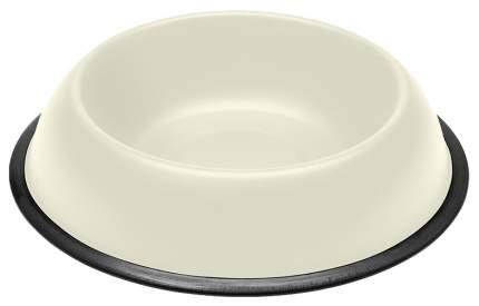Одинарная миска для кошек и собак Ferplast, металл, резина, белый, 2.5 л