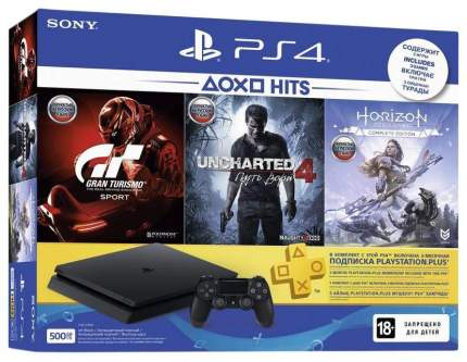 Игровая приставка Sony Playstation 4 Slim 500 Gb(CUH-2108A)+GTS+UCA: Путь вора + Horizont