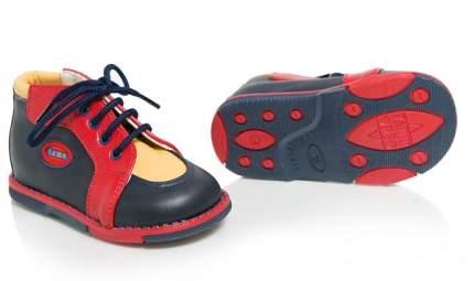 Ботинки Таши Орто синий красн желт кожа шнурки р.17