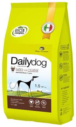 Сухой корм для собак Dailydog Adult Small Breed, оленина и кукуруза, 1,5кг