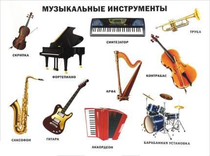 Плакат проф-Пресс плакаты на картоне Музыкальные Инструменты (Формат А2)
