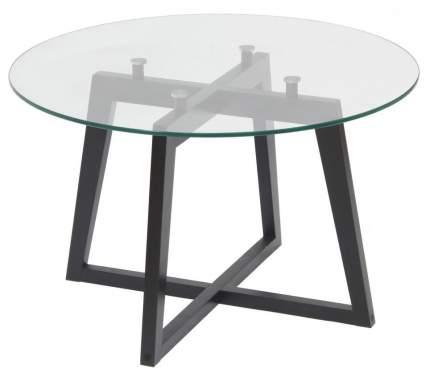 Журнальный столик Мебелик Рилле 445 1043 70х70х44 см, венге/прозрачное