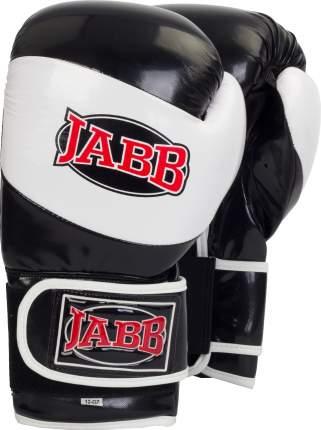 Боксерские перчатки Jabb JE-2022 черно-белые 10 унций