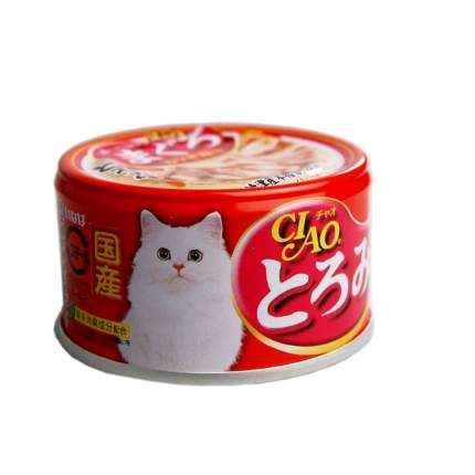 Консервы для кошек CIAO, карпаччо из мраморной вырезки тунца, 80г