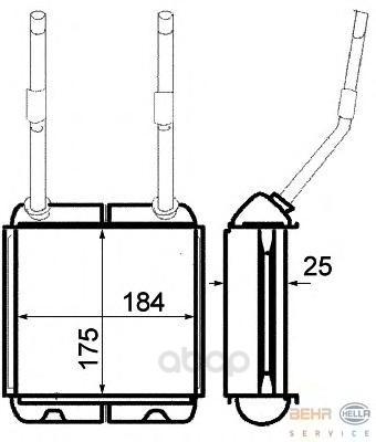 Радиатор отопителя HELLA 8FH351313031