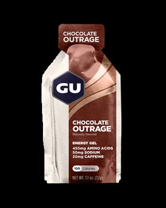 Энергетический гель GU Energy Gel с кофеином, 32 г, шоколадное безумие