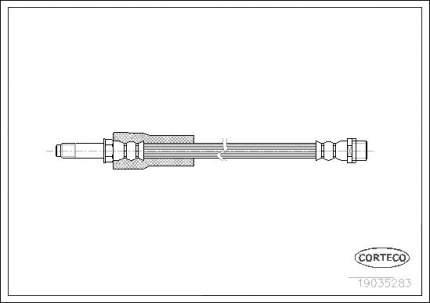 Шланг тормозной CORTECO 19035283
