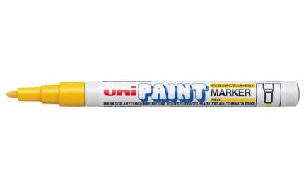Маркер перманентный Uni Paint PX-21 0,8-1,2мм овальный (желтый, 1 штука)