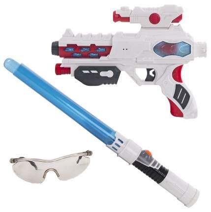 Набор Fun Red бластер, меч, очки со звуковыми и световыми эффектами