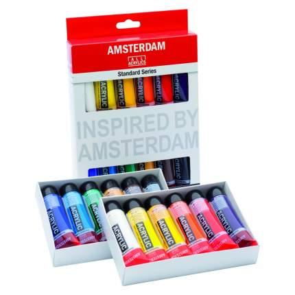 Акриловые краски Royal Talens Amsterdam Стандарт 12 цветов