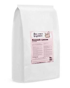Сухой корм для кошек Для самых преданных, ягненок с рисом, 10кг