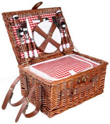 Набор для пикника Kuchenland Box Picnic 40х28х20 см 4 перс 24 шт