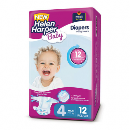 Подгузники Helen Harper Baby Maxi 4 (7-14 кг), 12 шт.
