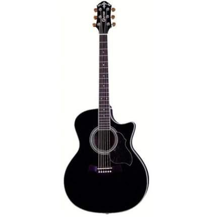 Электроакустическая гитара шестиструнная CRAFTER GAE-8 BK  Чехол
