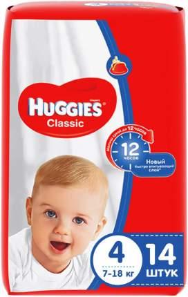 Подгузники Huggies Classic (7-18кг) 14шт/15 шт