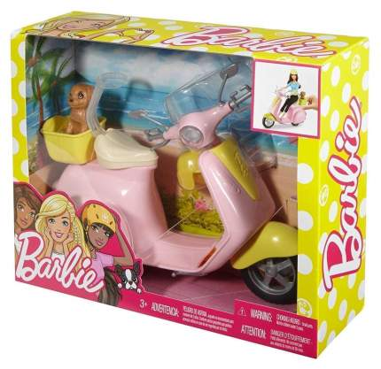 Транспорт для куклы Barbie Скутер и питомец щенок для куклы Барби FRP56