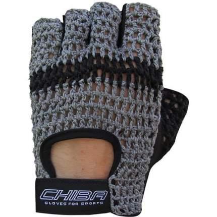 Перчатки для фитнеса мужские Chiba Athletes Choice, темно-серые, L INT
