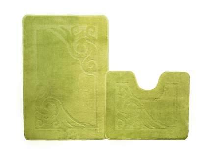 Набор ковриков для ванной ЭКО салатовый, SHAHINTEX 7318-4