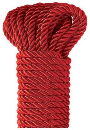 Веревка для шибари Pipedream Deluxe Silky Rope полиэстер красная 9,75 м