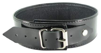 Ошейник BDSM Арсенал лаковый на пряжке с мягким подкладом черный