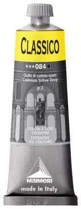 Масляная краска Maimeri Classico кадмий желтый темный 60 мл