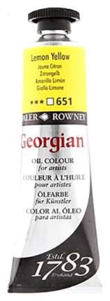 Масляная краска Daler Rowney Georgian желтый лимон 75 мл