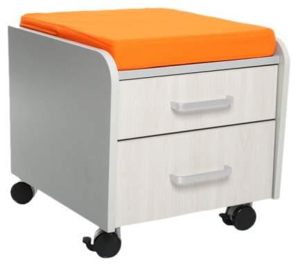 Тумбочка Comf-Pro BD-C2 оранжевый, серый, беленый дуб