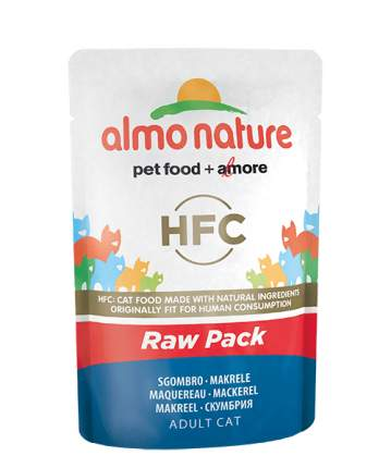 Влажный корм для кошек Almo Nature HFC Raw Pack, рыба, 24шт, 55г