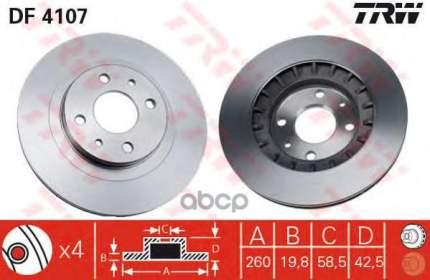 Тормозной диск TRW/Lucas DF4107 передний