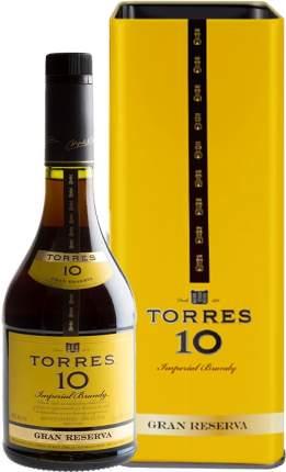 Бренди Torres 10 Gran Reserva gift box 0.7 л