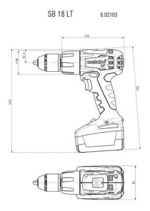 Аккумуляторная дрель-шуруповерт Metabo SB 18 LT 602103510
