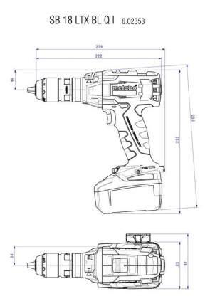 Аккумуляторная дрель-шуруповерт METABO SB 18 LTX BL Q I 602353840 БЕЗ АККУМУЛЯТОРА И З/У