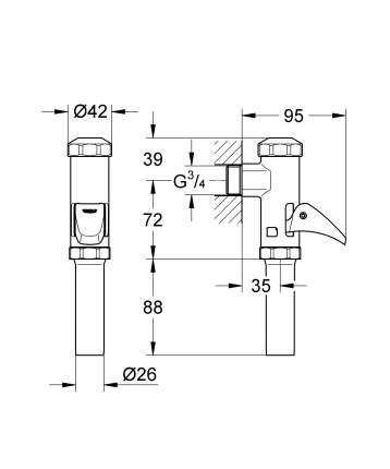 Полноавтоматическое смывное устройство для унитаза GROHE Rondo
