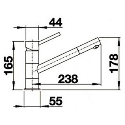 Смеситель для кухонной мойки Blanco KANO-S 521503 хром