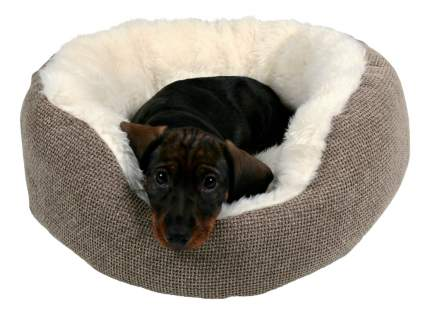 Лежанка для кошек и собак TRIXIE 45x45x15см коричневый, белый