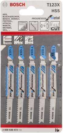 Набор пилок для лобзика Bosch Т 123 ХF, HSS 2608638473