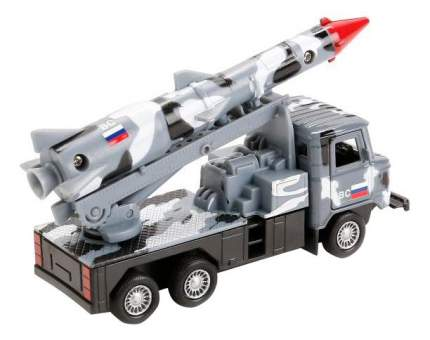 Машина металл инерционная ГАЗ 66 с ракетой Технопарк