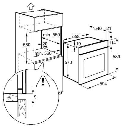 Встраиваемый электрический духовой шкаф Zanussi OPZA4210B Black